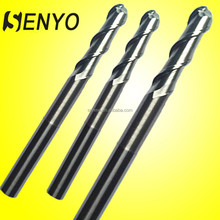 2 Flute Uncoated Ball Nose High Speed Solid Carbide Milling Cutter