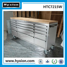 "Hyxion 72"" utility tool chest / garage ss tool cabinet / tool box with wheels"