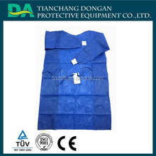 blue disposable sterilized reinforced surgical gown with cuff supplier with CE TUV ISO13485 approved