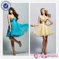 SA6885 nuevo estilo vestidos de fiesta cortos con lentejuelas