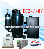 Electric ac rotary 48v compressor for Outdoor base station cabinet hybrid powered base station battery cabinet