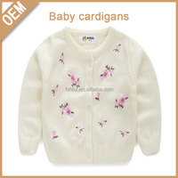100% cotton winter wool handmade sweater design for girls cardigans