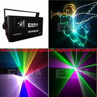 1300mW rgb mini lazer light full color programmable beam animation 3D effects laser party light