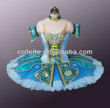MB0898-1 !!!Green China Style Ballerina classical pancake tutu in performance dancewear