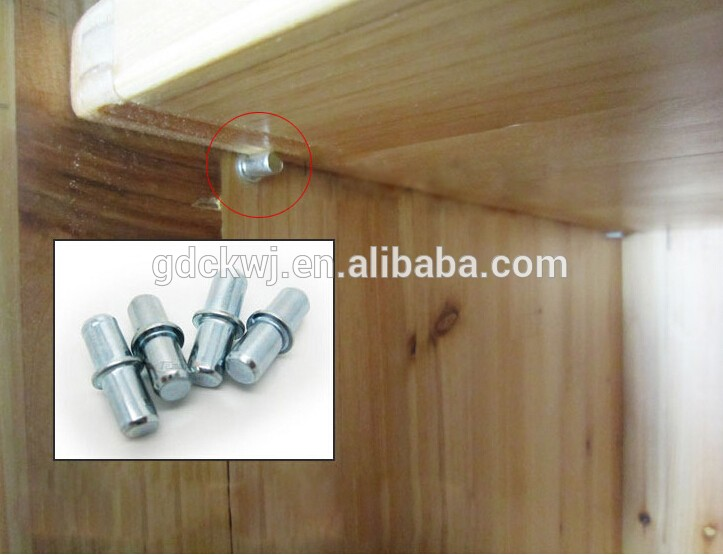 invisible shelf support cabinet shelf support with 5mm pin