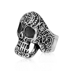 The European and American fashion jewelry wholesale Ms punk skull retro ring finger ring for women