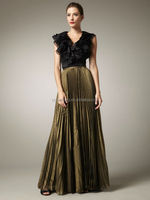 HT1597 Elegant black and green long vintage groom mother dresses dresses for mother of brides