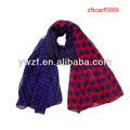 la moda de tejer bufandas de poliéster