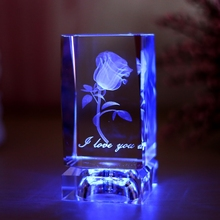2015 Hot New Product Wedding gift 3D Crystal Rose