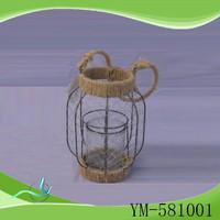 China Wholesale custom wrought iron lanterns/iron candle lantern