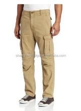 new design khaki cargo pants for men's hot selling