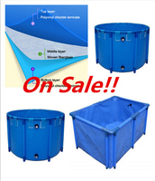 High quality plastic aquaculture round fish farming tank