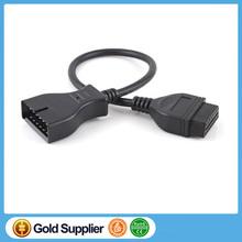 12 Pin OBD OBD2 Diagnostic Cable12Pin OBD/OBD2 16Pin Adapter OBDII Cable Connector For GM