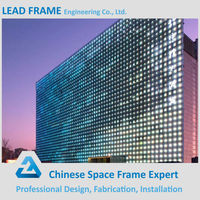Visible Steel Frame Cladding Glazed Glass Curtain Wall