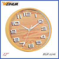 12 inch Round Plastic Wall Clock WH-6546