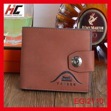 buy direct from china manufacturer fashion leather card holder men's wallet with lock