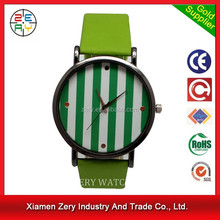 R0718 new trendy leather girl watch cheap water resistant watches