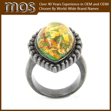 2015 top selling transparent color flower jewelry rings