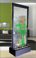 glass waterfall metal privacy screens