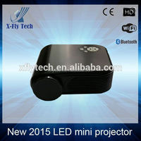 black newest technology led Multimedia Projector tv for home /education/school/bussiness/entertainment