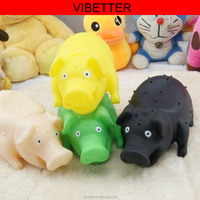 TOY-022 Venting toy shrilling Pig 2015 lovely animals rubber toy pig, vinyl toys pig set With shrieks