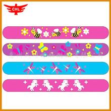 2016 UEFA custom wholesale silicone slap bracelets