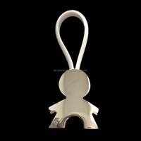 Zinc Alloy Silver Plating Blank Metal Keychain metal keying