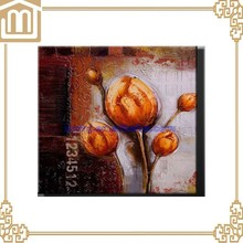 Factory Wholesale Good quality Flower oil painting on canvas