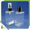 100ml PET plastic square spray bottle squeezed bottle disc cap lotion bottle