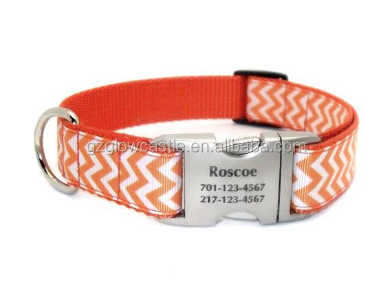 Chevron Stripe Personalized Dog Collar (6).jpg