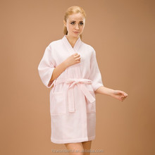 wholesale sleepwear/ pink waffle pajamas/ causal style for women