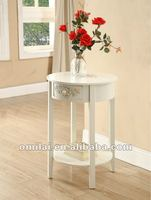 2012 new design wooden+MDF vase standing round end table