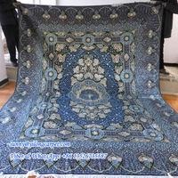 Ocean blue quality 9x12ft persian silk carpets handmade