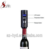 New style LCD Show Automatic Wine Preserver plastic wine bottle stoppers