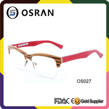 Half Rim Wooden Eyewear All Type Of Hard Wooden Optical And Soft Wood
