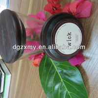 Black Glass Jars and Wooden Lids