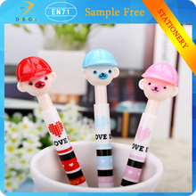 Alibaba wholesale kids' stationery newest cartoon skating shoes plastic ballpen for gift