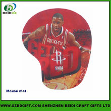 basketball star printed rubber mouse pad mouse mat