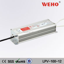 100w Waterproof AC to DC LED power supply 12v