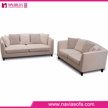 European style home fabric furnitures 6 seater sofa set 1+2+3 seater sofa set