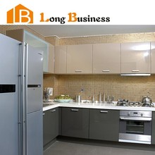 LB-DD1203 Modern E1 Standard of Grey Lacquer Sheet Kitchen Cabinets