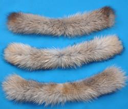 raccoon fur neck warmers/china high quality raccoon fur ball for hat/raccoon fur collar wholesale
