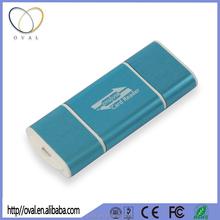 2015 Blue Aluminium Alloy SD/TF USB OTG Smart Card Reader