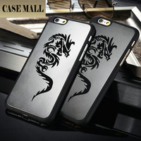 "Dragon Pattern Aluminum+PC Back Case for iphone 6, for iphone 6 4.7"" Supporting 50pcs mix colors"
