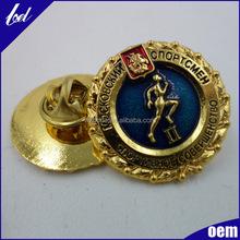 Custom shaped zinc alloy logo badge brand name metal badge Custom badge promotional novelty gifts