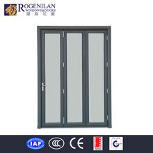 ROGENILAN aluminum frame balcony sliding glass door folding style engineering door