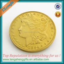 Replica Morgan Dollar head old gold coin prices