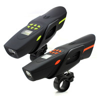 Multi-Function Bicycle Sound FM MP3 Speaker Bluetooth Music Player LED Flashlight Mobile Power Interphone Walkie-Talkie Radio