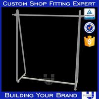 Customized simple standing powder coating clothing rack
