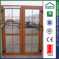 Made in China PVC wood color french door insert